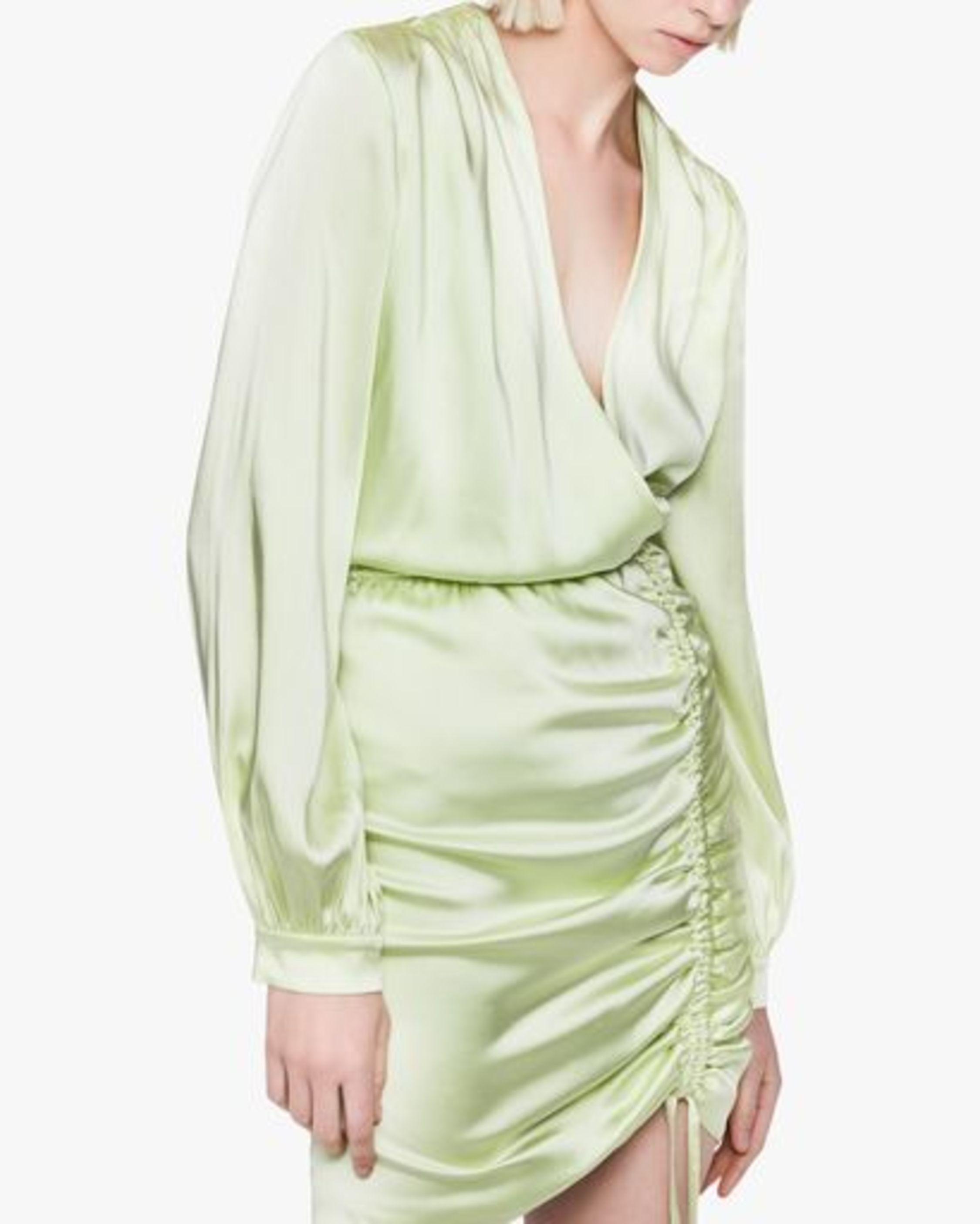 Jonathan Simkhai Justine Fluid Satin Mini Dress 3