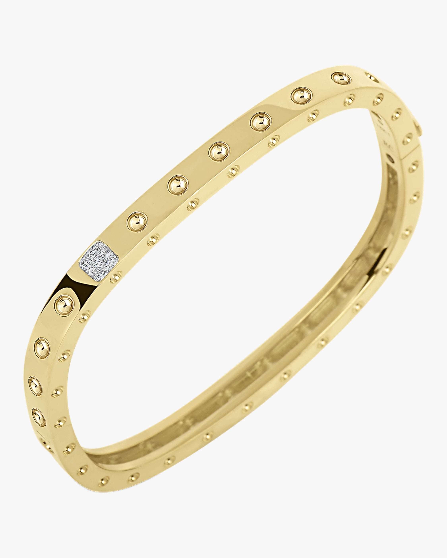Roberto Coin Gold Princess Bangle with Diamonds 0
