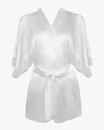Lace-Trim Robe
