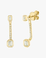Shay Jewelry Baguette Punch Pavé Stick Ear Jackets 0