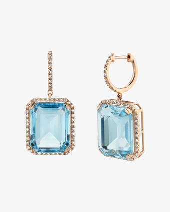 Crystal Portrait Drop Earrings