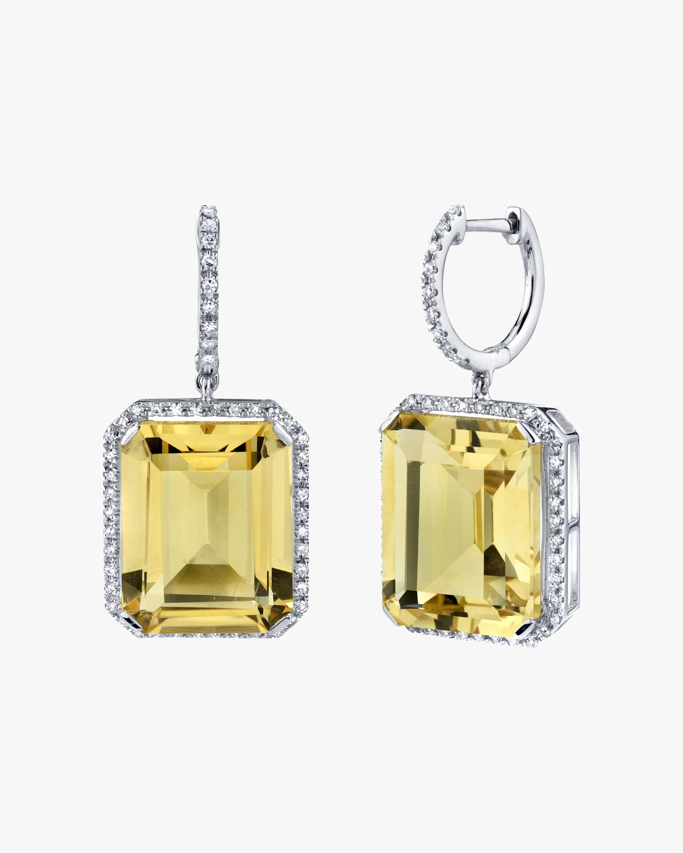 Shay Jewelry Yellow Topaz Portrait Drop Earrings 0