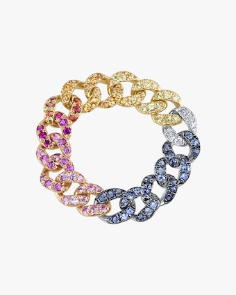 Shay Jewelry Rainbow Link Ring 2