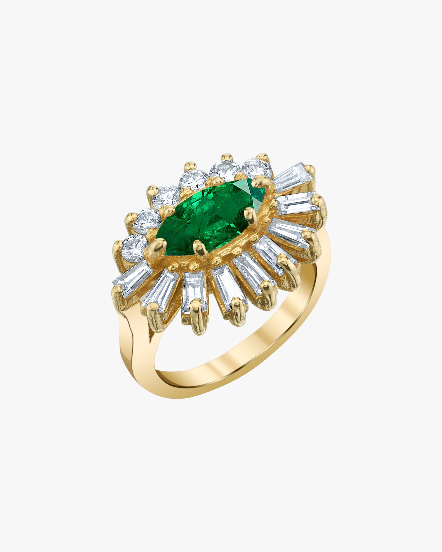 Shay Jewelry Emerald & Diamond Evil Eye Pinky Ring 0