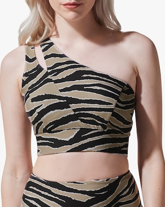 Tigress One-Shoulder Sports Bra