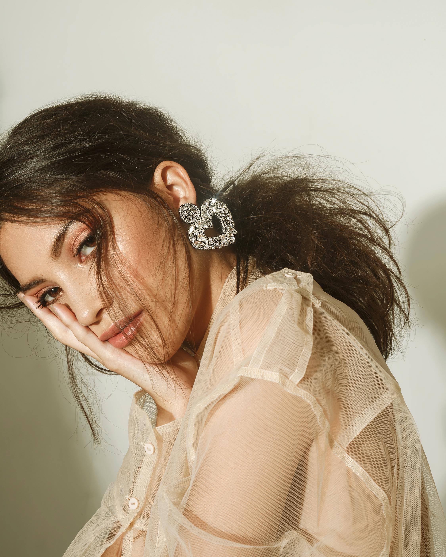 MÄHA & MORENA Crystal Heart Earrings 3