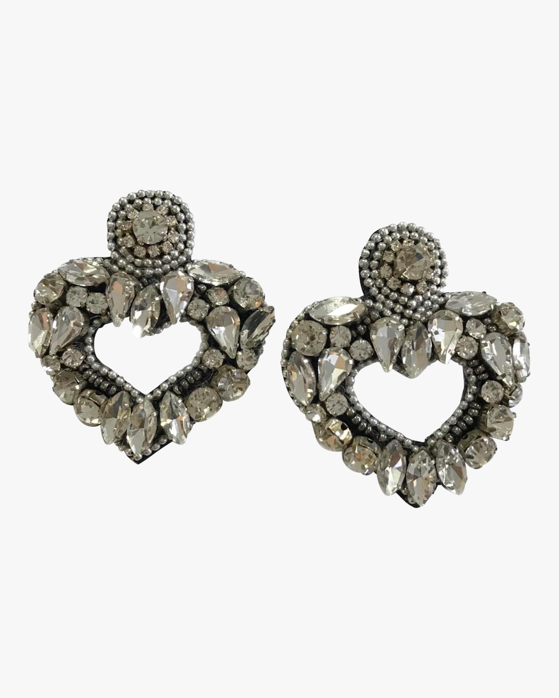MÄHA & MORENA Crystal Heart Earrings 0