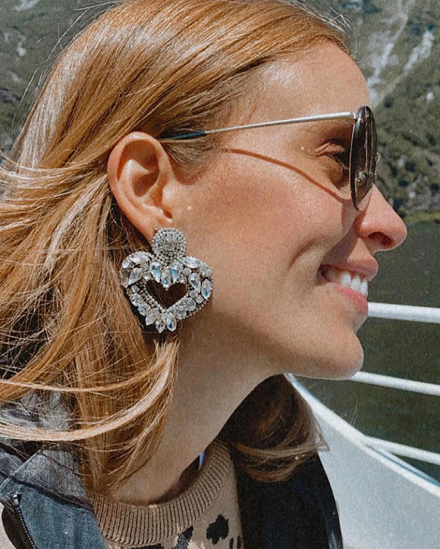 MÄHA & MORENA Crystal Heart Earrings 2