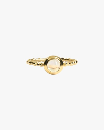 Anzie Dew Drop Round Stackable Ring 2