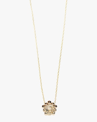 White Topaz Micro Dew Drop Solitaire Necklace