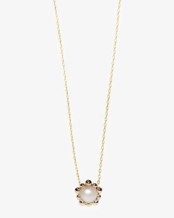 Freshwater Pearl Micro Dew Drop Solitaire Necklace