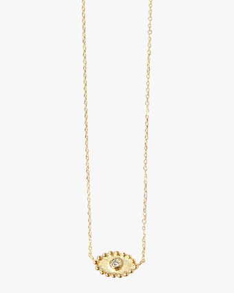 Anzie Diamond Dew Drop Evil Eye Necklace 1