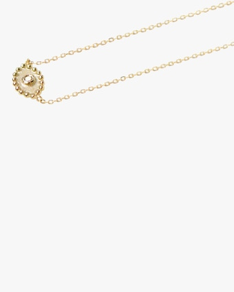 Diamond Dew Drop Evil Eye Necklace