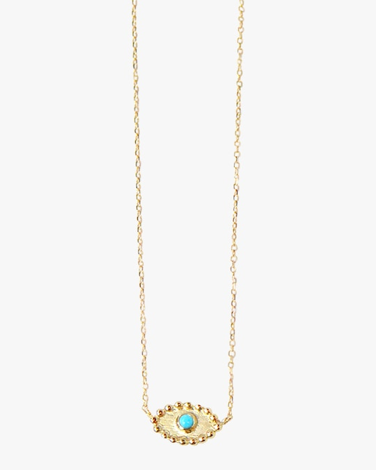 Anzie Turquoise Dew Drop Evil Eye Necklace 0