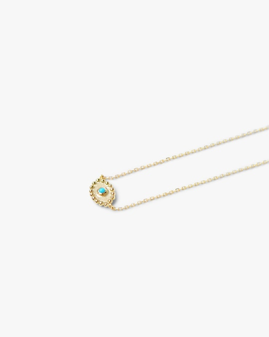 Anzie Turquoise Dew Drop Evil Eye Necklace 1