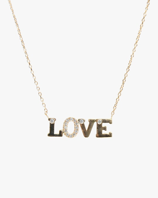Anzie Love Letter LOVE Necklace 0