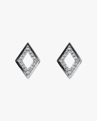 Cléo Hollow Rhombus Stud Earrings
