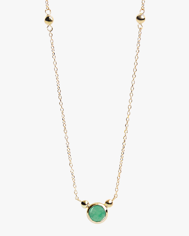 Anzie Emerald Bonheur Birthstone Necklace 2