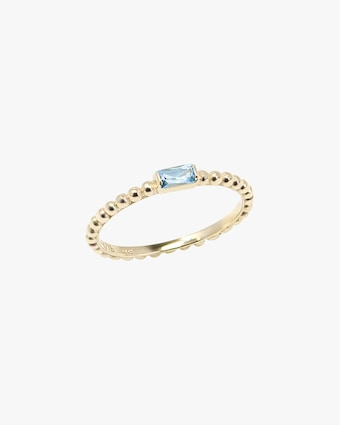 Blue Topaz Dew Drop Stackable Ring