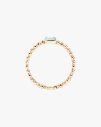Anzie Blue Topaz Dew Drop Stackable Ring 2