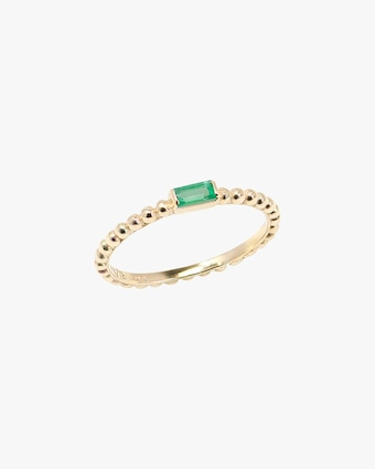 Emerald Dew Drop Stackable Ring