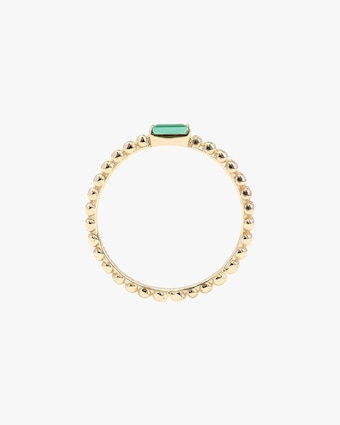 Anzie Emerald Dew Drop Stackable Ring 2