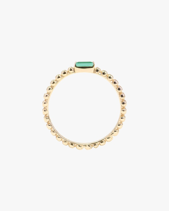 Anzie Emerald Dew Drop Stackable Ring 1