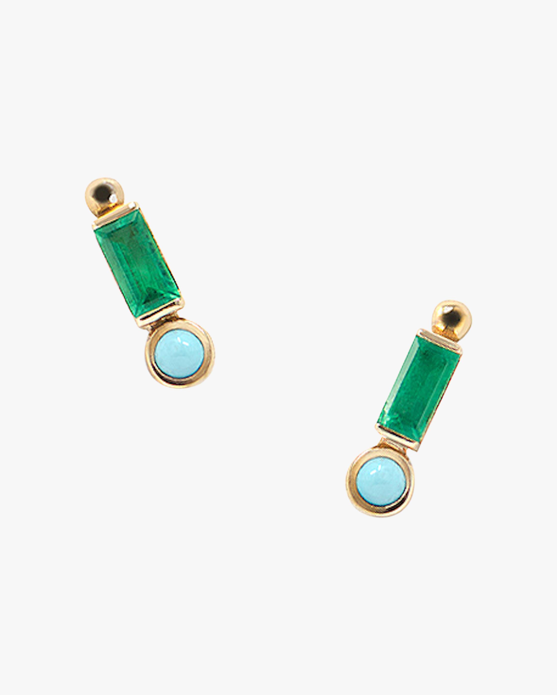 Anzie Cléo Baguette Stud Earrings 0