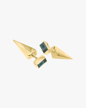 Lunaya Petite Topaz Cone Stud Earrings 1