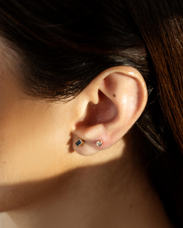 Lunaya Petite Topaz Cone Stud Earrings 1