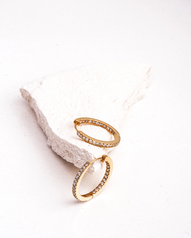 Lunaya Inside-Out Baby Diamond Hoop Earrings 1