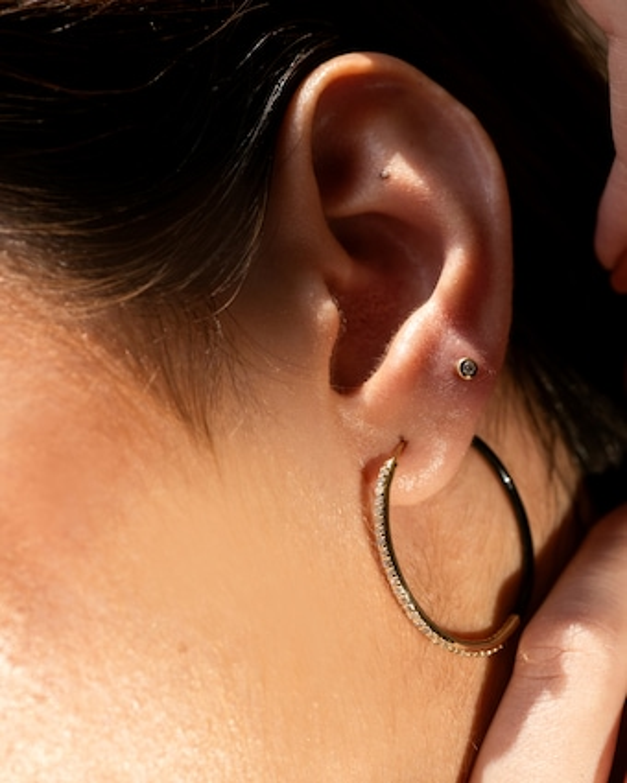 Even-Steven Diamond Hoop Earrings