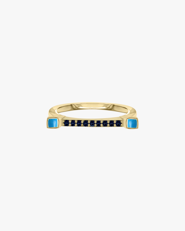 Bar Blue Sapphire Ring
