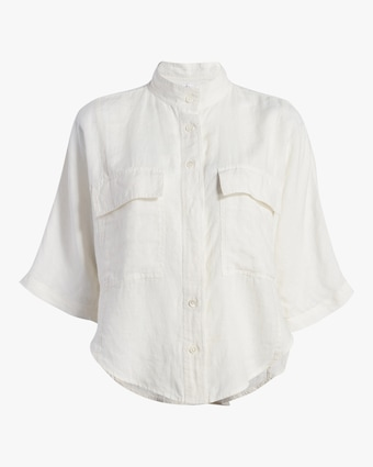 Frame Short-Sleeve Clean Safari Shirt 1