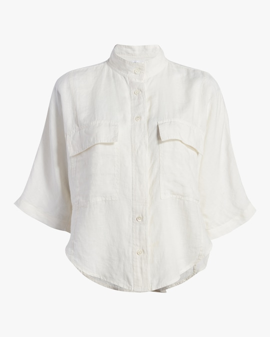 Frame Short-Sleeve Clean Safari Shirt 0