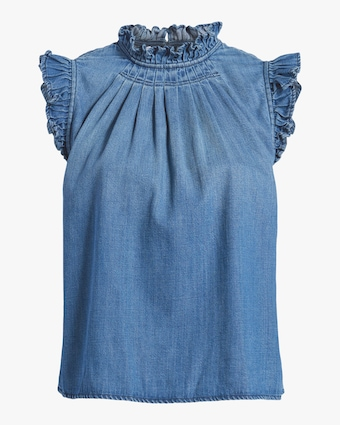 Frame Ruffle Sleeveless Top 1