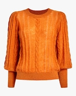 byTimo Bishop-Sleeve Mohair Sweater 0