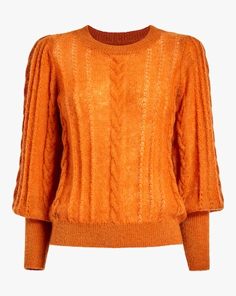 byTimo Bishop-Sleeve Mohair Sweater 1