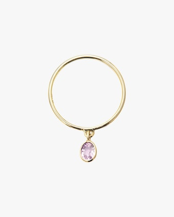 Pink Sapphire Drop Ring