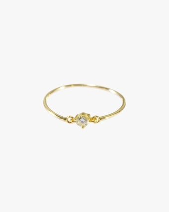 Yi Collection Canary Diamond Petite Circle Ring 1