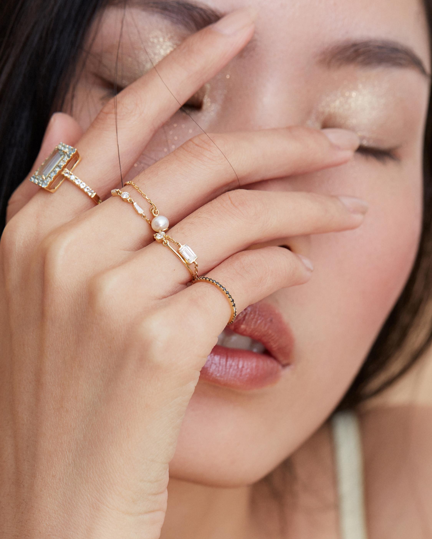 Yi Collection Canary Diamond Petite Circle Ring 1