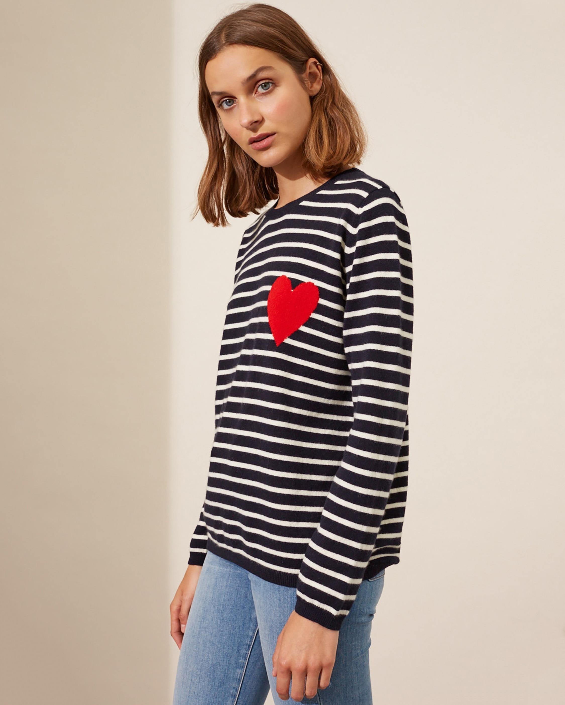 Chinti and Parker Breton Heart Sweater 3