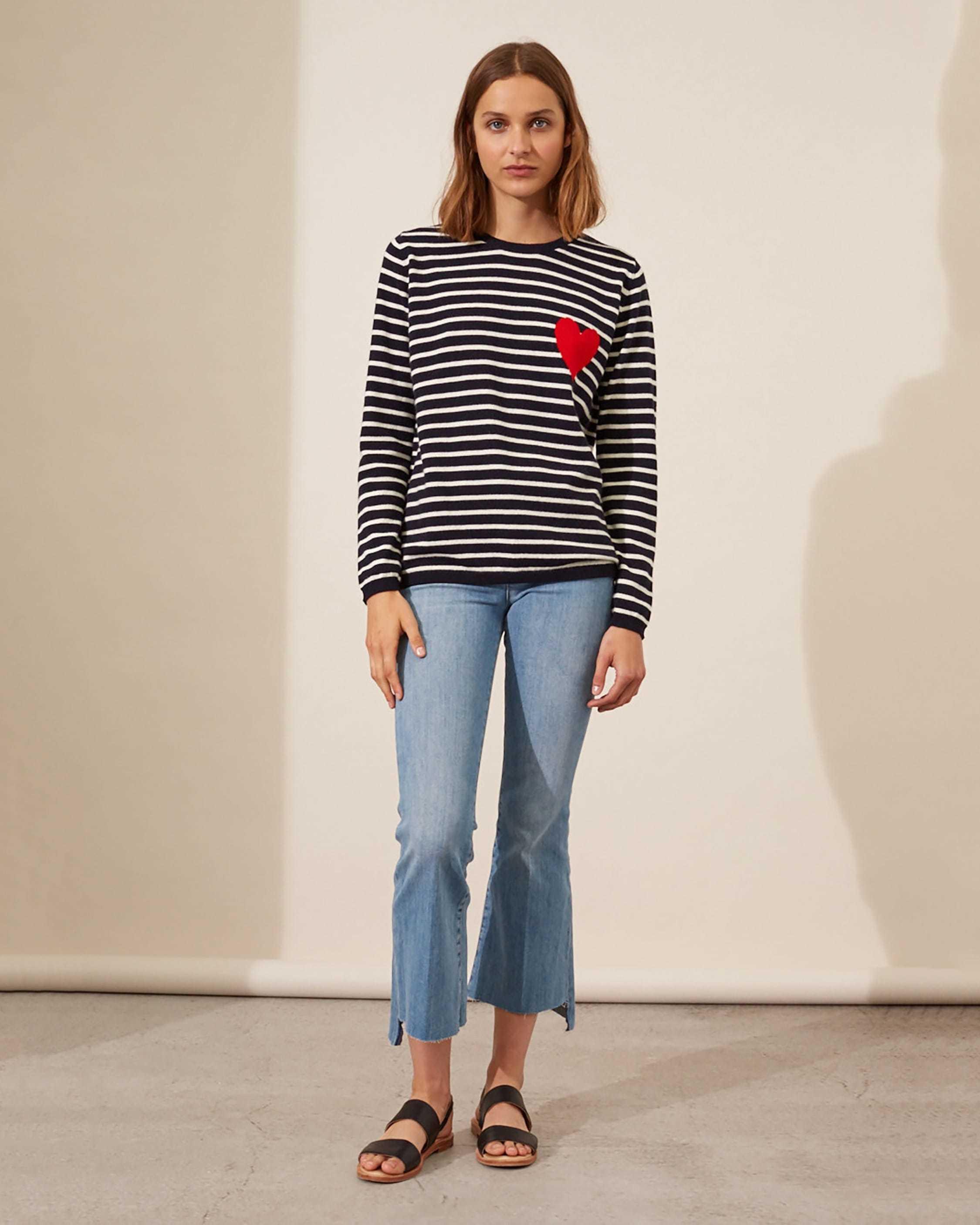 Chinti and Parker Breton Heart Sweater 4