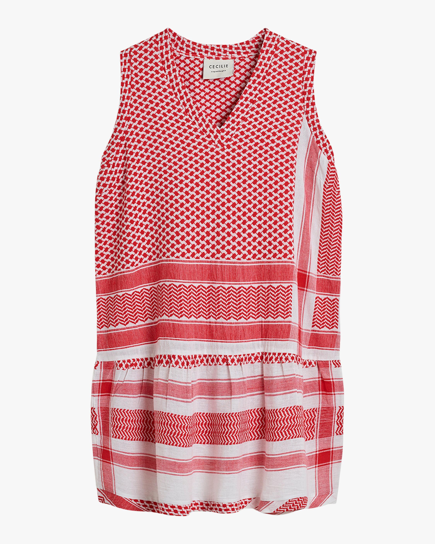 Sleevless V-Neck Shift Dress