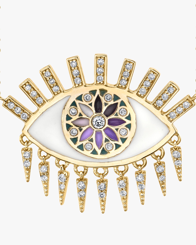 Sydney Evan Kaleidoscope Eye Fringe Pendant Neklace 2