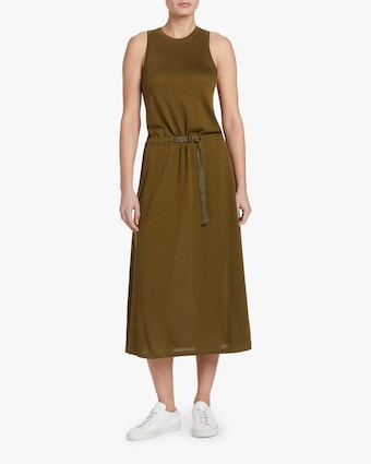 Rower Belted Midi Dress