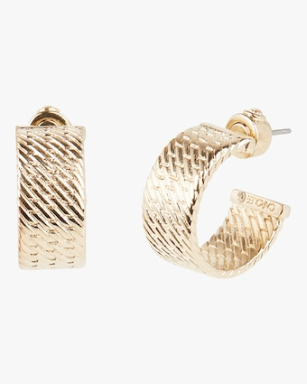 Kate Textured Hoop Earrings