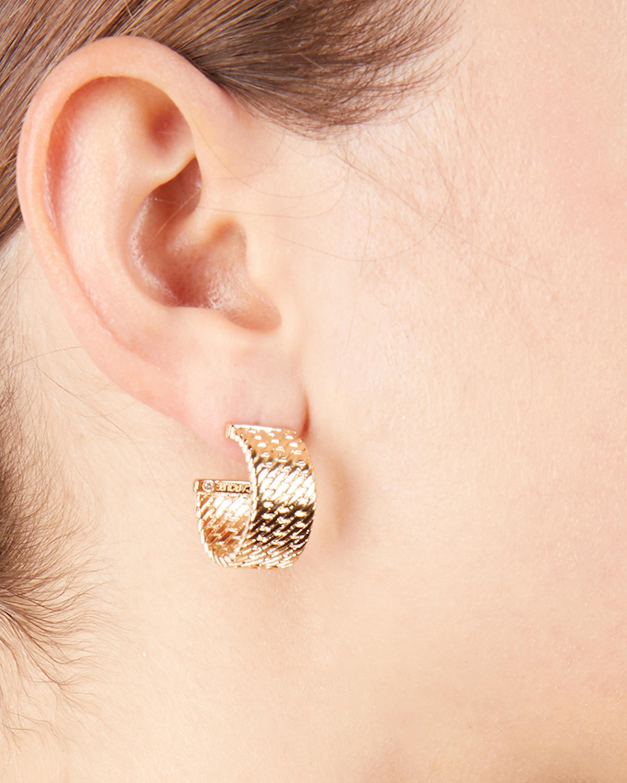 Kate Textured Hoop Earrings