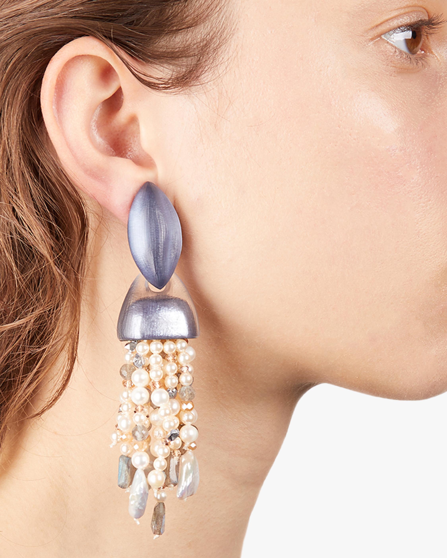 Alexis Bittar Chunky Layered Waterfall Clip-On Earrings 2