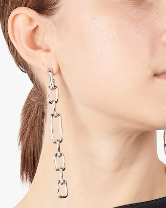 Chain-Link Drop Earrings